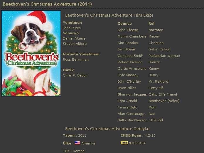 Beethoven'ın Yeni Yıl Macerası - 2011 DVDRip XviD - Türkçe Dublaj Tek Link indir