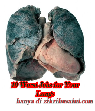 lung, lung black, lung cancer, 10 worst jobs for your lungs, kerja yang tak elok buat paru-paru
